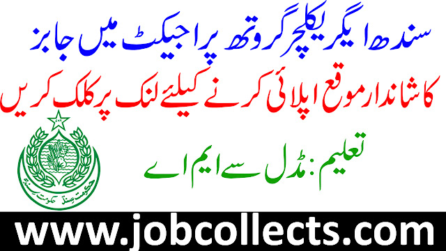 Sindh Agriculture Growth Project Jobs In Pakistan