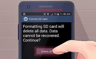 format kartu memori di hp