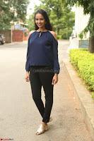 Poojita Super Cute Smile in Blue Top black Trousers at Darsakudu press meet ~ Celebrities Galleries 029.JPG