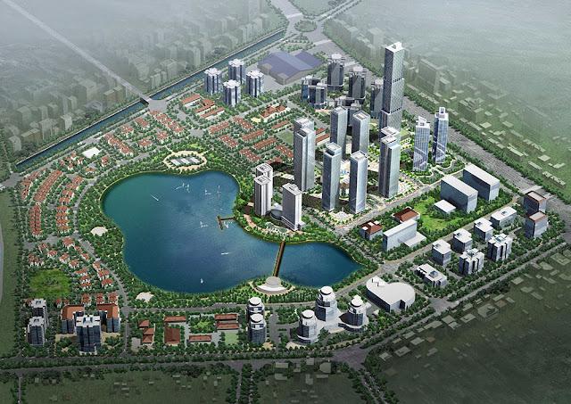phối cảnh khu đô thị thành phố giao lưu