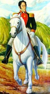 Imagen de Simón Bolivar a colores para niños