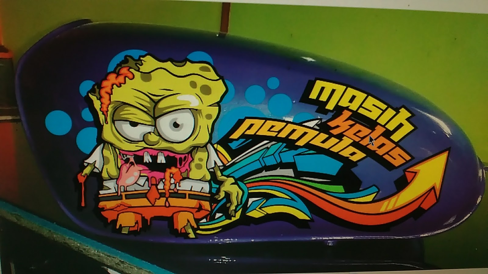 Gemilang Sticker Cutting Sticker Honda Cb Spongebob Zombie