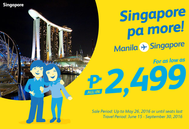Cebu Pacific Manila to Singapore Promo