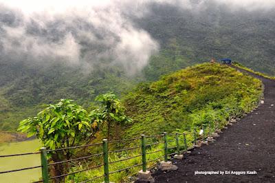 Misty Morning in Mt. Galunggung through my Phone Camera