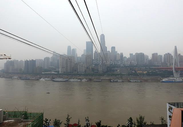 Cable Car Across Yangtze River
