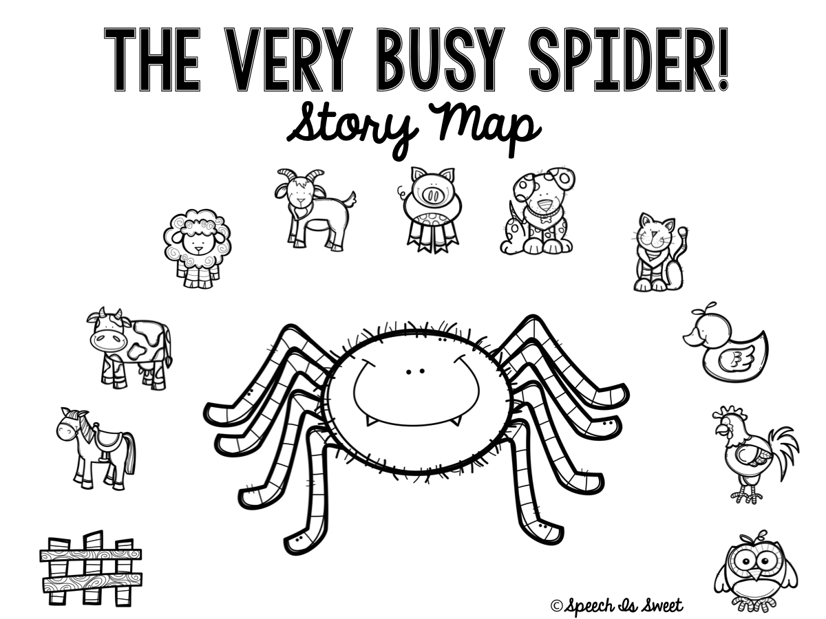 Speech Is Sweet The Very Busy Spider Plus Freebie