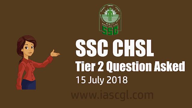 SSC CHSL Tier 2 Questions