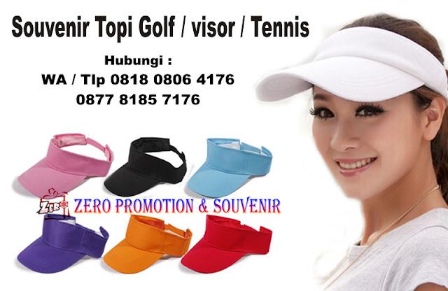 topi visor, topi golf, Topi tennis, topi olahraga, konveksi topi golf, jual topi golf custom yang dapat di bordir atau sablon logo