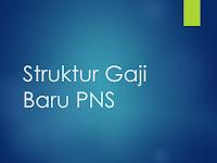 Struktur Gaji Baru PNS