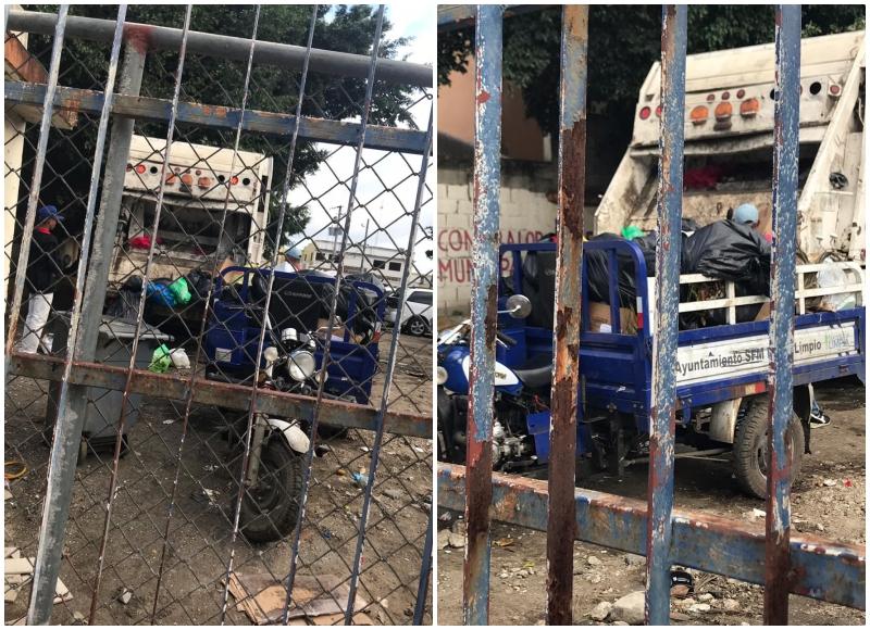 Basura en parqueo de ayuntamiento SFM afecta a empleados de edificio Gubernamental