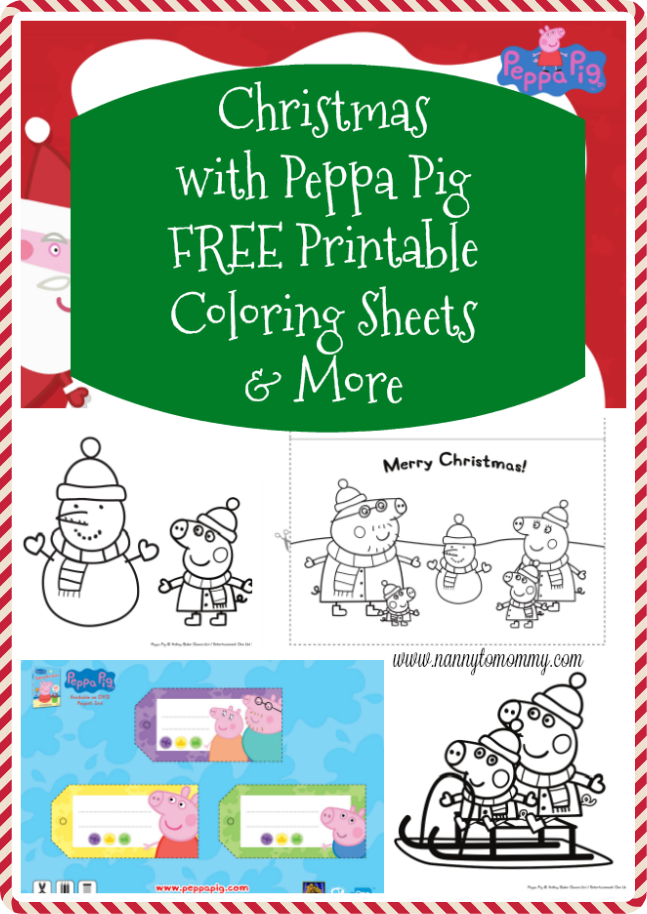Christmas with Peppa Pig Coloring Sheets, Activities, and more