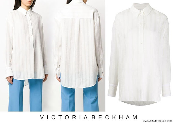 Meghan Markle wore Victoria Beckham oversized long sleeve shirt