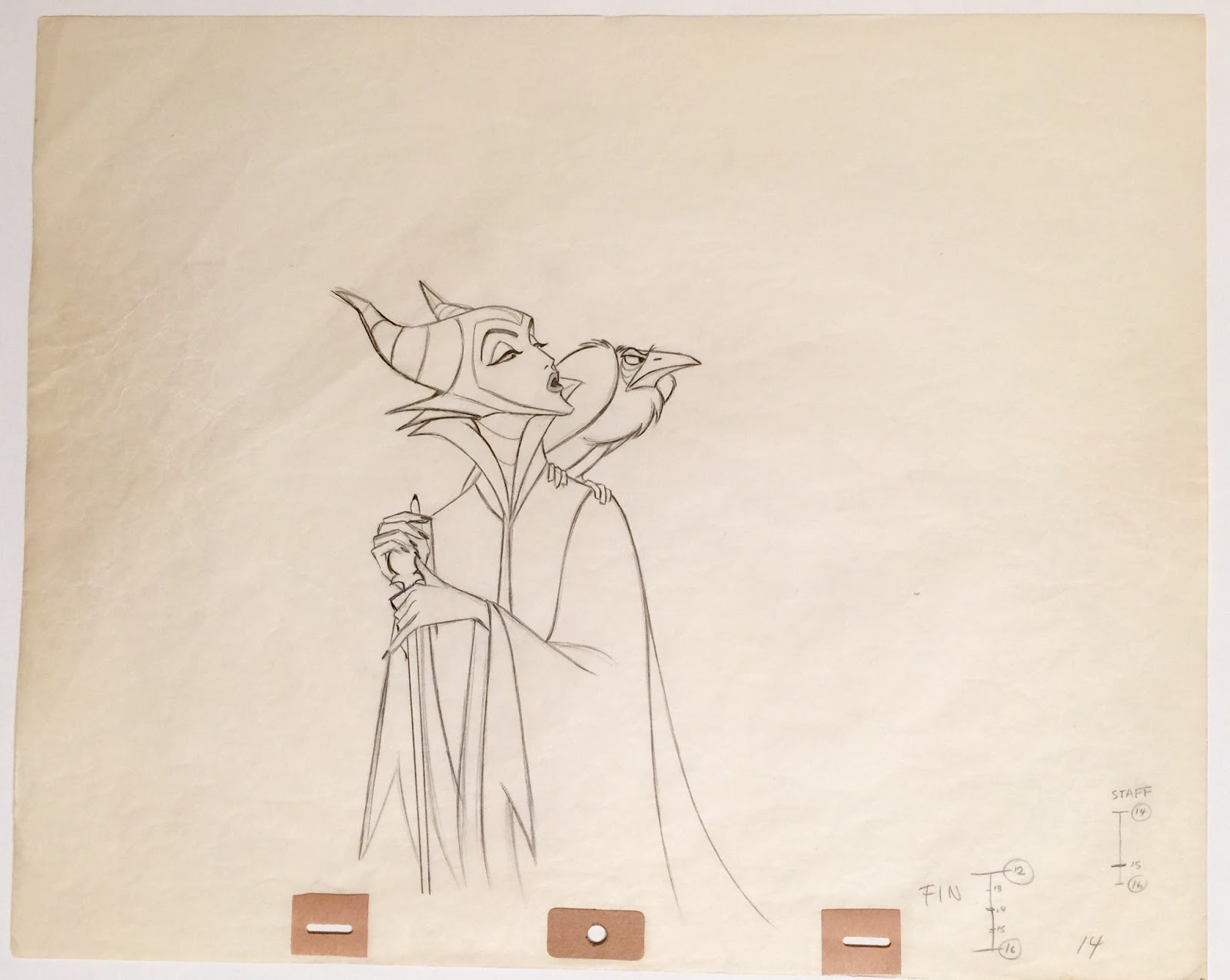 Animation Collection: Original Production Drawing of Maleficent and