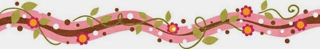 Flores: Bordes y Esquinas para Scrapbook de Fiesta de 15 Años.