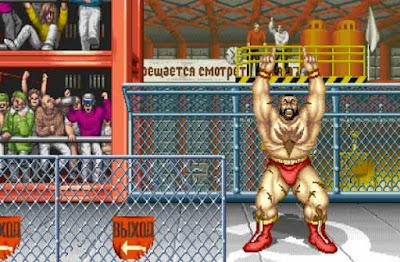 Zangief nel suo stage di ''Street Fighter II''