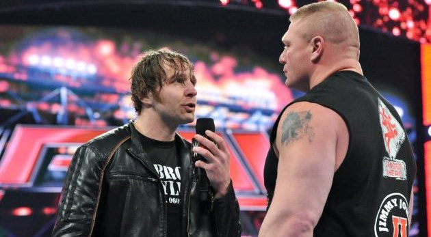 Dean Ambrose vs Brock Lesnar Wrestlemania Live streaming