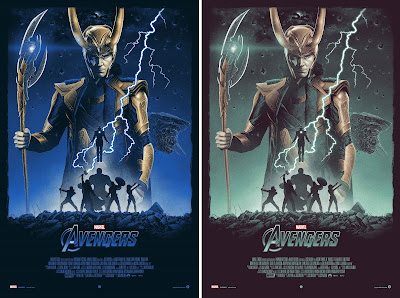 The Avengers Movie Poster Screen Print by Marko Manev x Grey Matter Art x Marvel