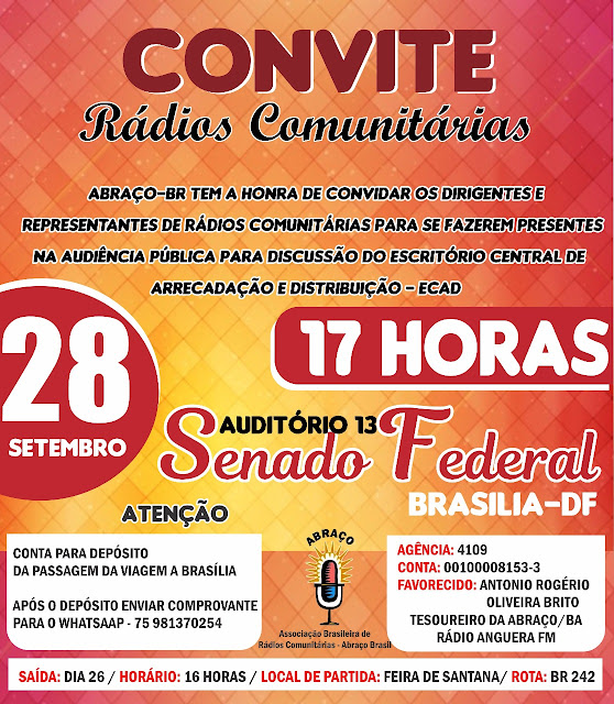 Convite: Rádios Comunitárias