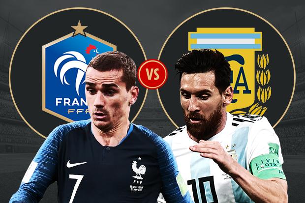 كأس العالم 2018 مباراة الارجنتين وفرنسا