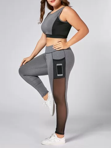 Almamodaaldia - plus size workout clothes - Rosegal