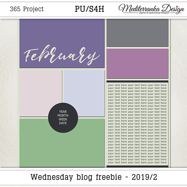 WEDNESDAY BLOG FREEBIE - 2019/02