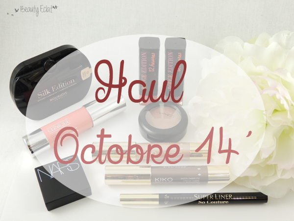 haul beaute bourjois nars clinique kiko l'oreal