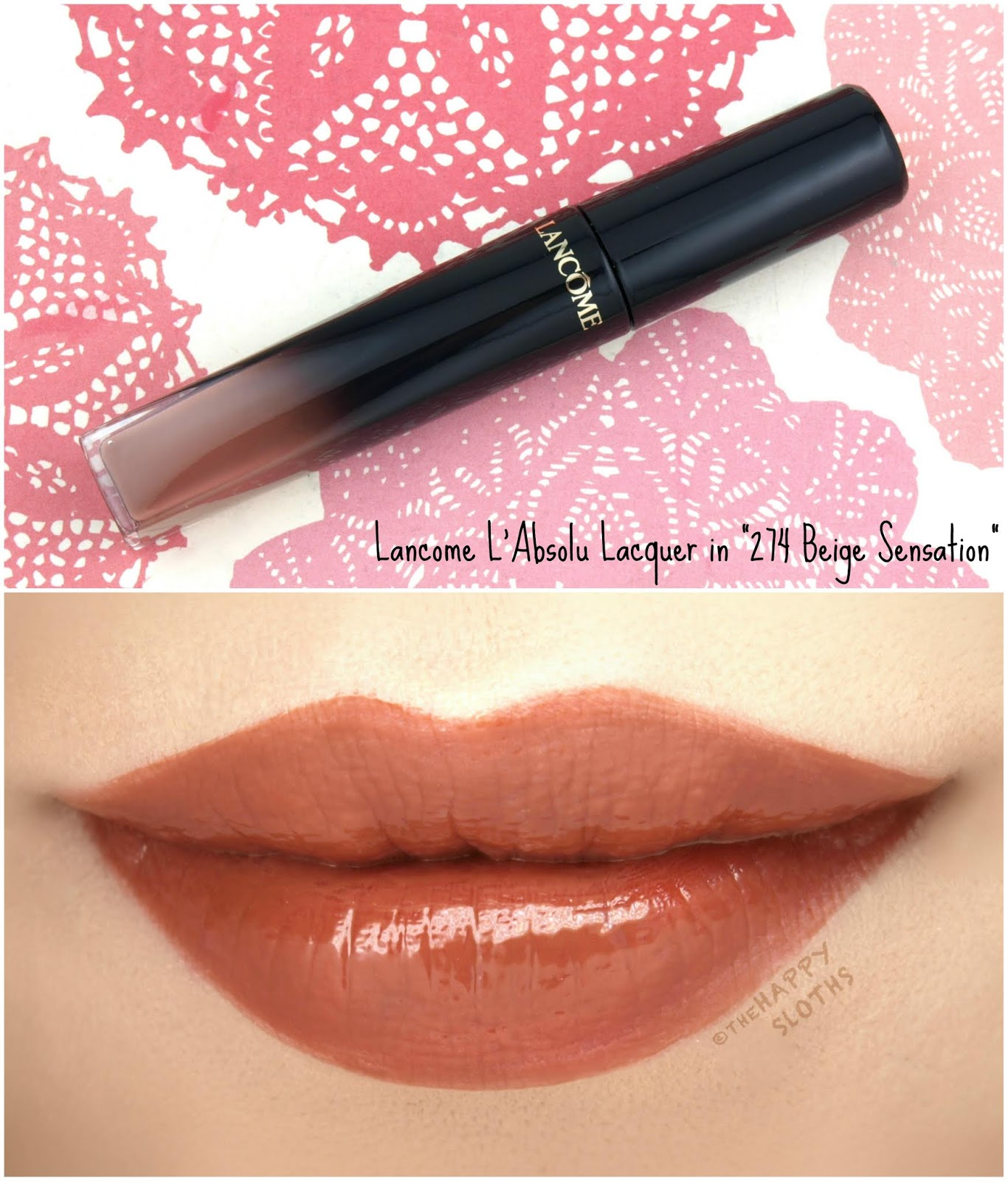 "Lancome | L'Absolu Lacquer in ""274 Beige Sensation"": Review and Swatches"