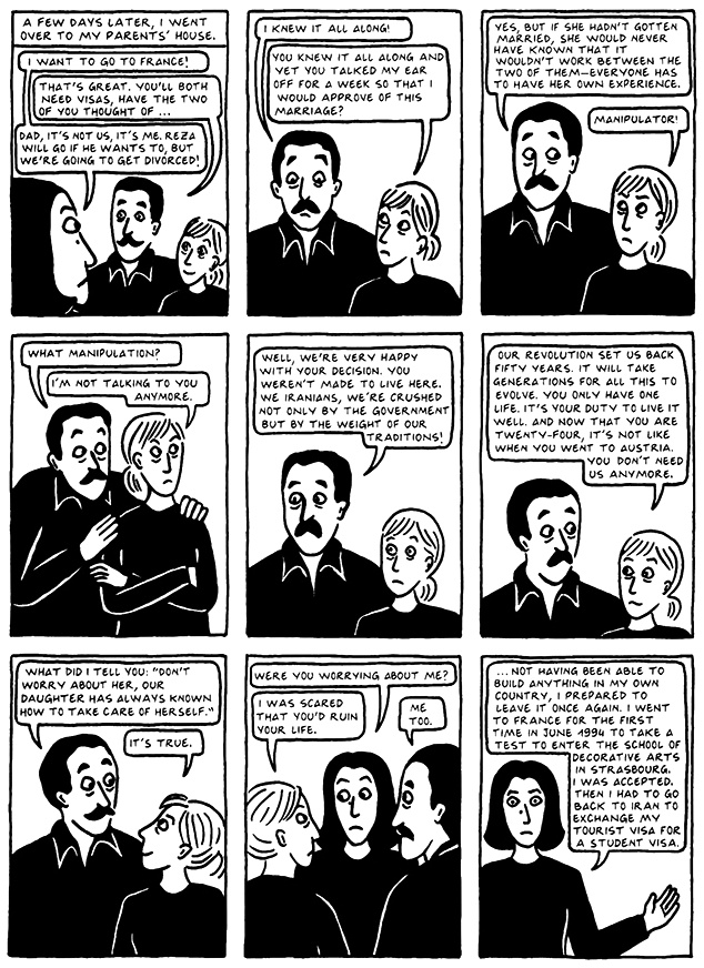 Read Chapter 19 - The End, page 185, from Marjane Satrapi's Persepolis 2 - The Story of a Return