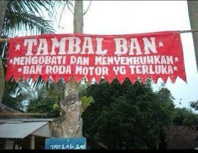 Banner Promosi Unik Tambal Ban Mengobati Ban Yang Sakit