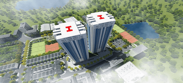 Tổng thể dự án căn hộ chung cư Osaka Complex.