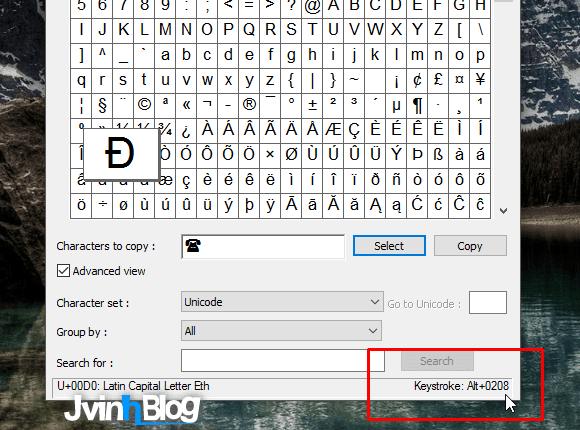 Cách dùng Character Map để chèn kí tự đặc biệt