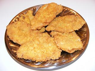 retete snitele de porc crocante si condimentate cu fulgi de porumb reteta fast food,