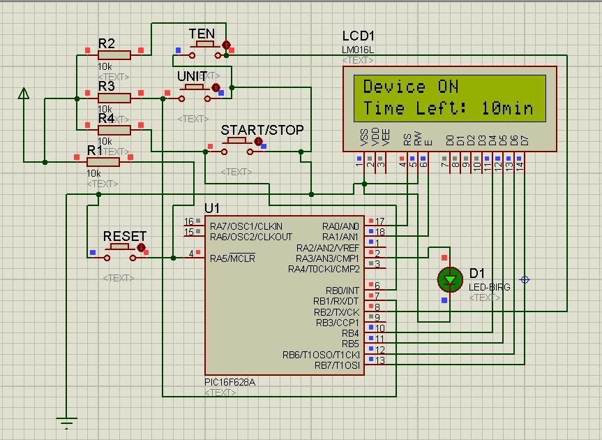 Electronics Projects And Details: PIC Countdown Timer (0-99)