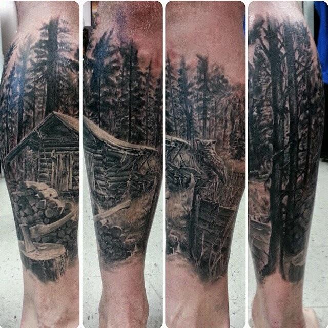 43 Tatuajes De Paisajes Inspiradores Belagoria La Web De Los Tatuajes
