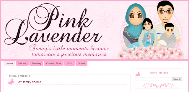 Template Blog Pink Lavender, edit blog murah, design blog murah