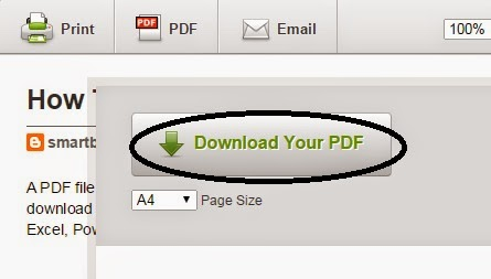 Download Any Website Page or Blog Post In PDF Form