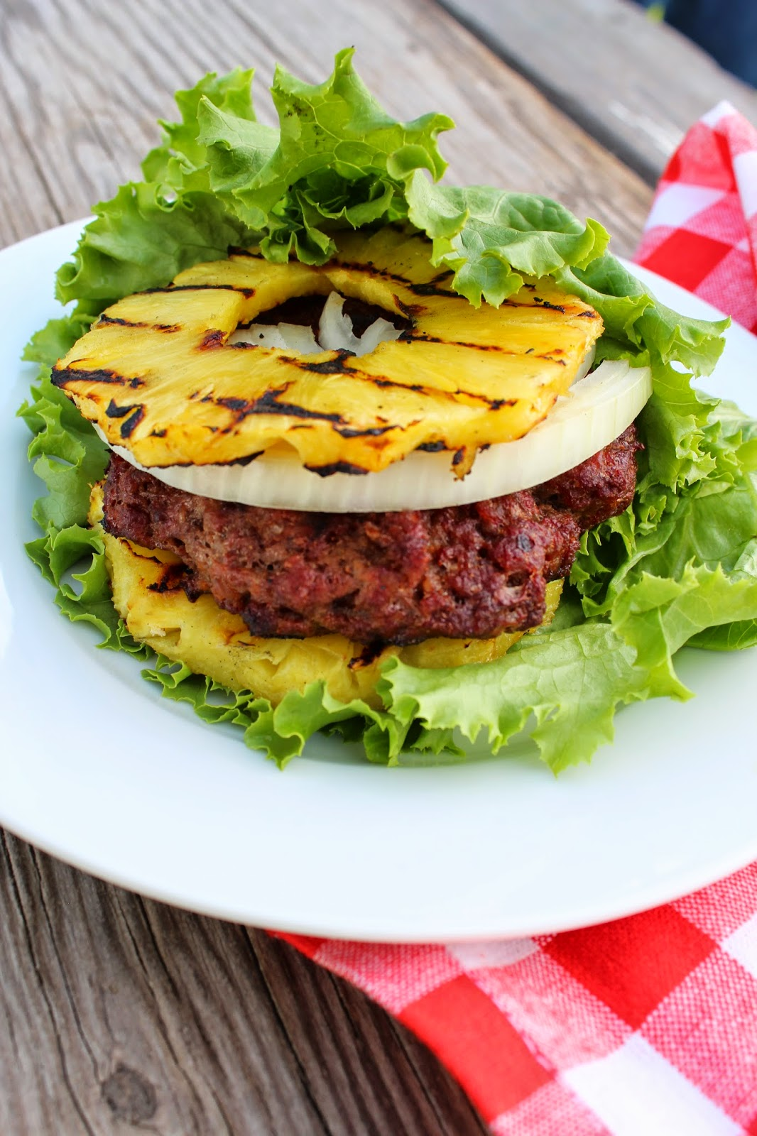 Grilled Pineapple Burger