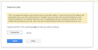 Cara Mudah Menghapus Backlink Spam Di Blogger Dengan Google Disavow
