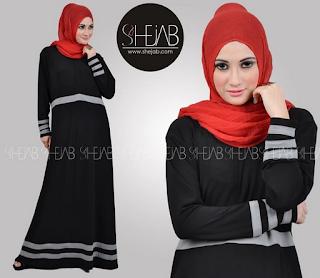 Foto Baju Muslim Gamis Casual Bahan Kaos Terbaru Update