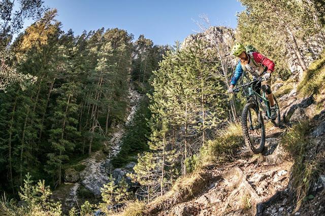 mountainbike trail track sennesscharte