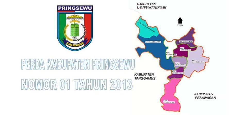 Perda Kabupaten Pringsewu nomor 01 tahun 2013 Tentang Organisasi dan Tata Kerja Pemerintahan Pekon