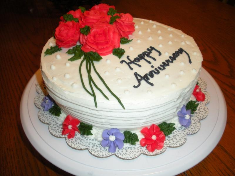 Sweet Happy Anniversary Cake Pics