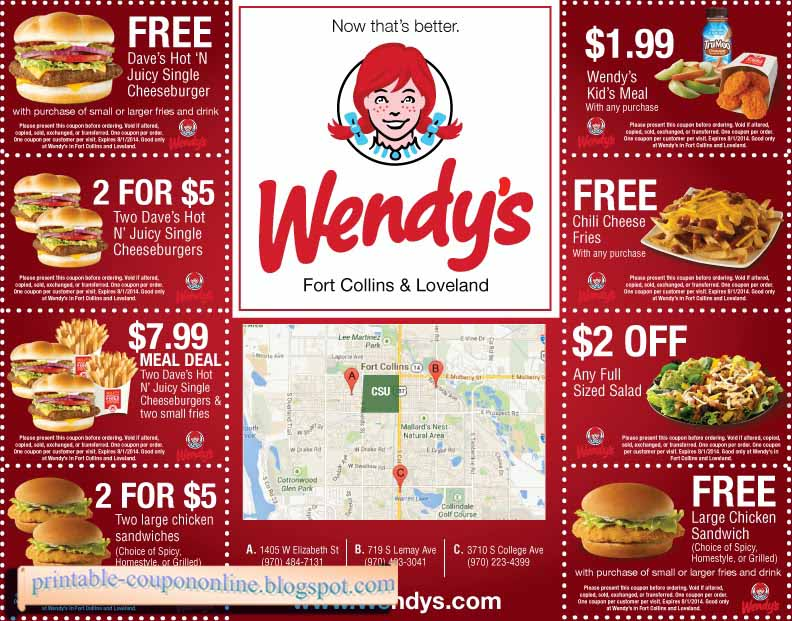 photograph regarding Wendy's Printable Application known as Wendys Discount codes Promo Codes