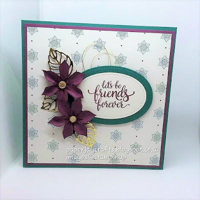 Paperjay Crafts, Tranquil Tide, Friends and Flowers Card