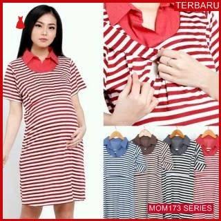 MOM173D26 Dress Hamil Menyusui Mode Fashion Dresshamil Ibu Hamil