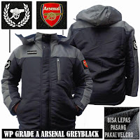 Jual Jaket waterproof bola arsenal