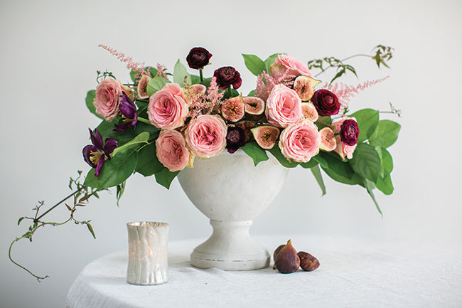 Floral arrangement with figs - inspired by Baroque Still life - Accent Decor, Inc