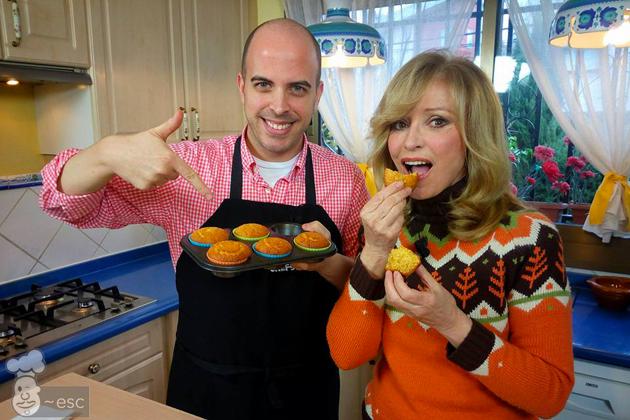 Haciendo muffins de maiz con Silvia Tortosa en En Casa Contigo