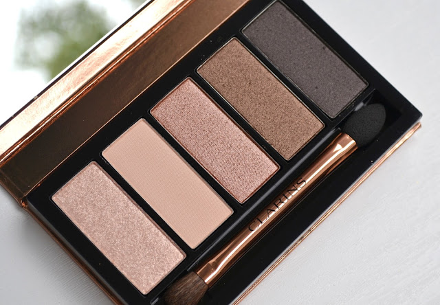 Clarins 5 Colour Eyeshadow Palette in #03 Natural Glow with Swatches