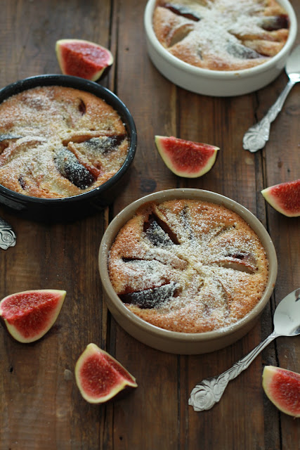 figues , dessert facile , poires , crème de noisettes